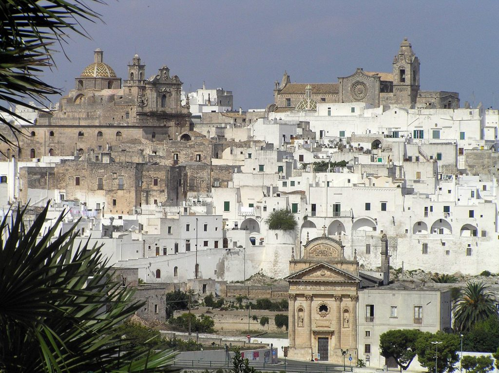 Ostuni, one of the location of the Picasso exhibition the other half of the sky