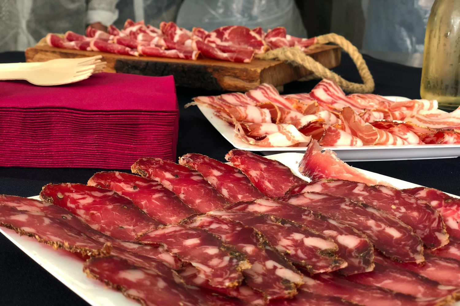 Tasting apulian cured meats