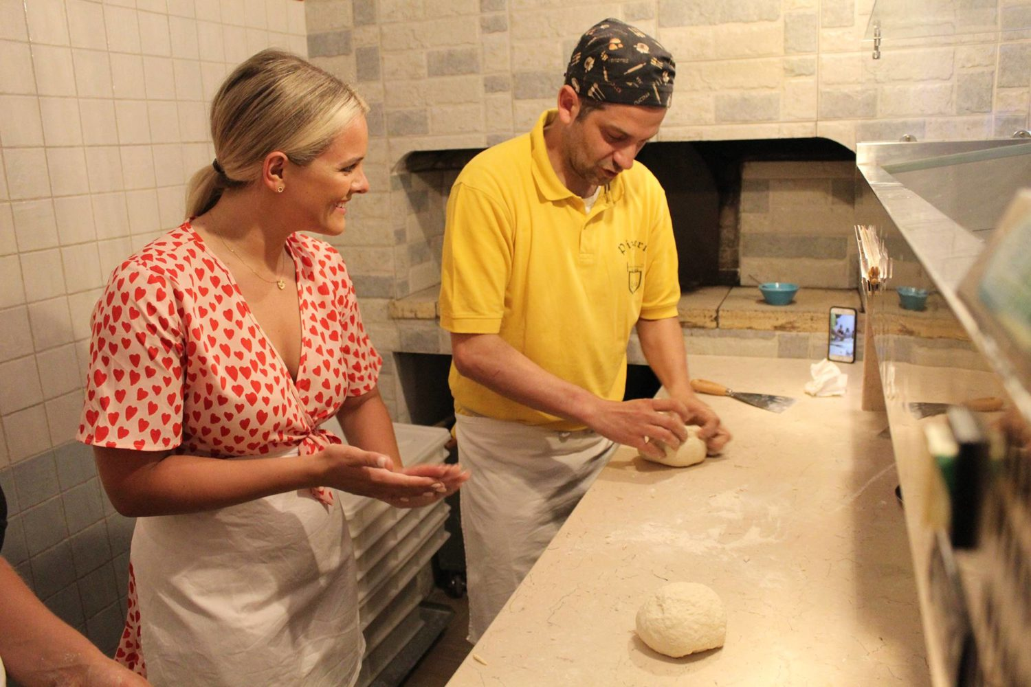 Italian pizza cooking class in Puglia