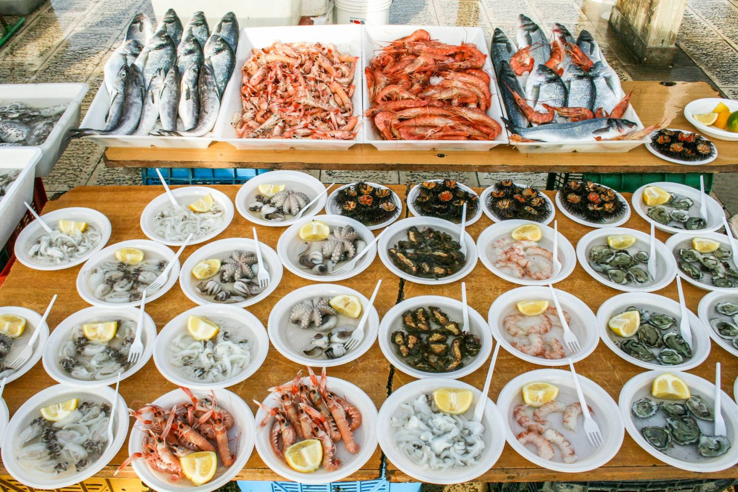 Seafood lunch in Puglia