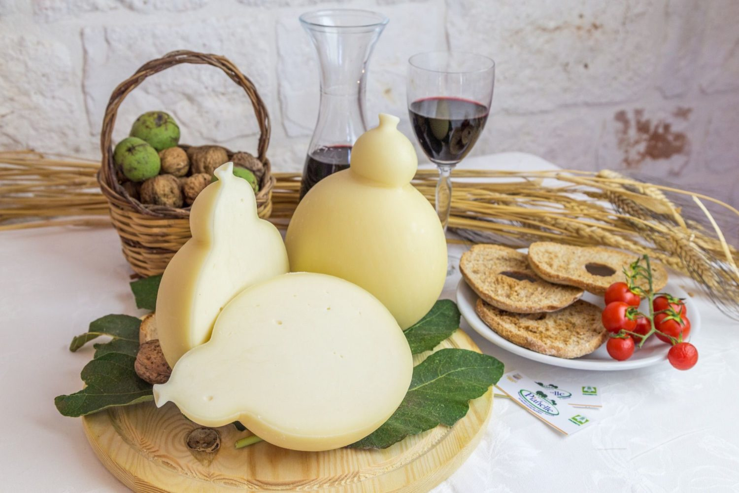 Caciocavallo hard cheese