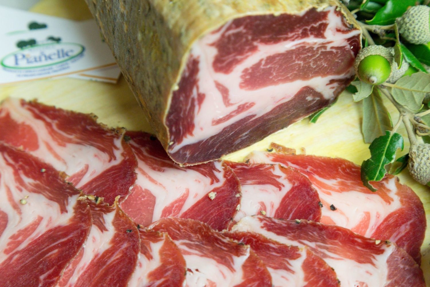 Capocollo cured meat Puglia