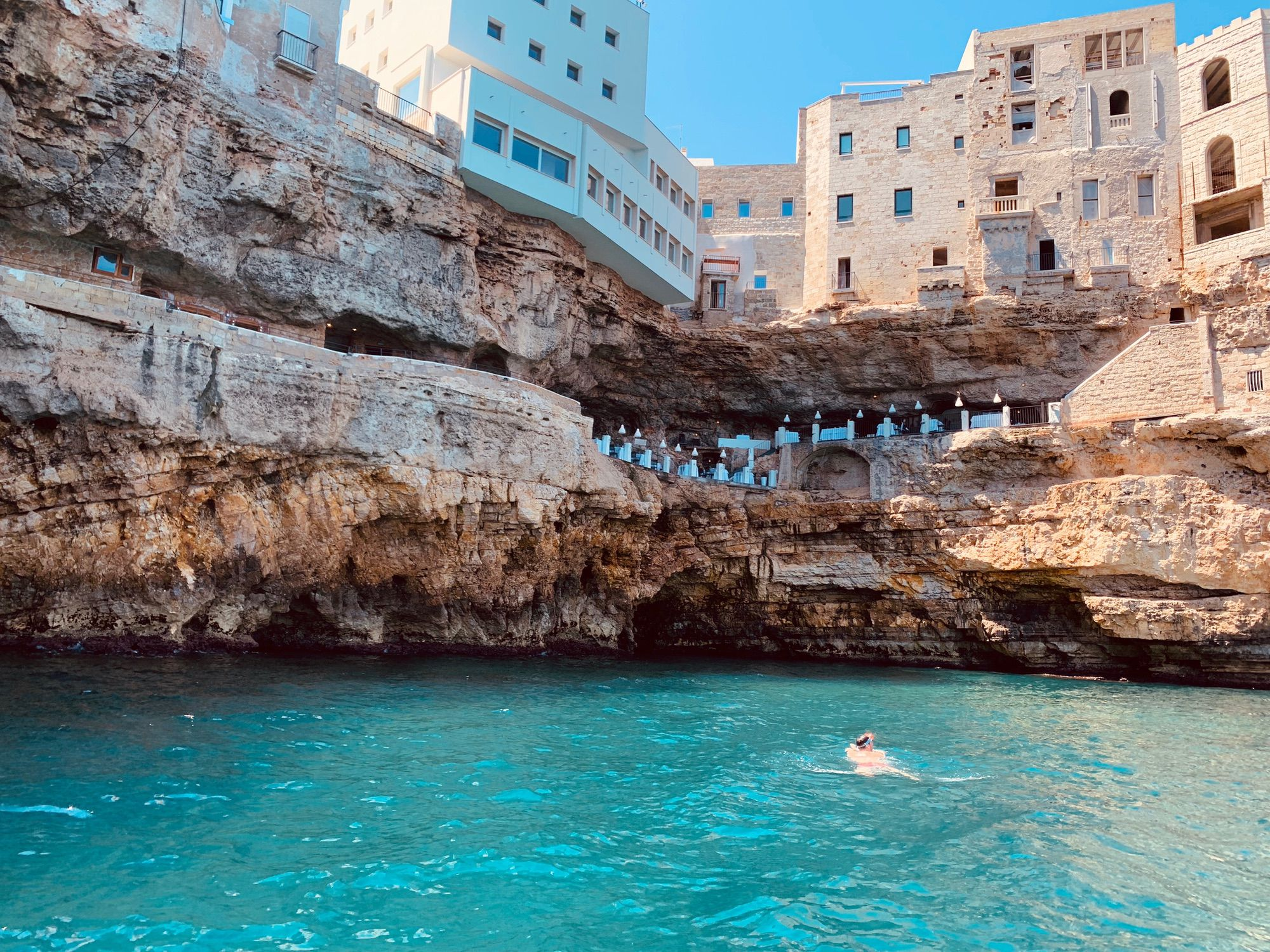 Boat excursion to caves of Polignano