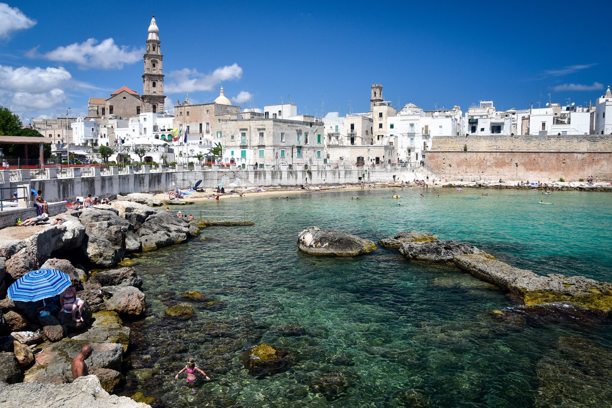 Visit Monopoli from the sea