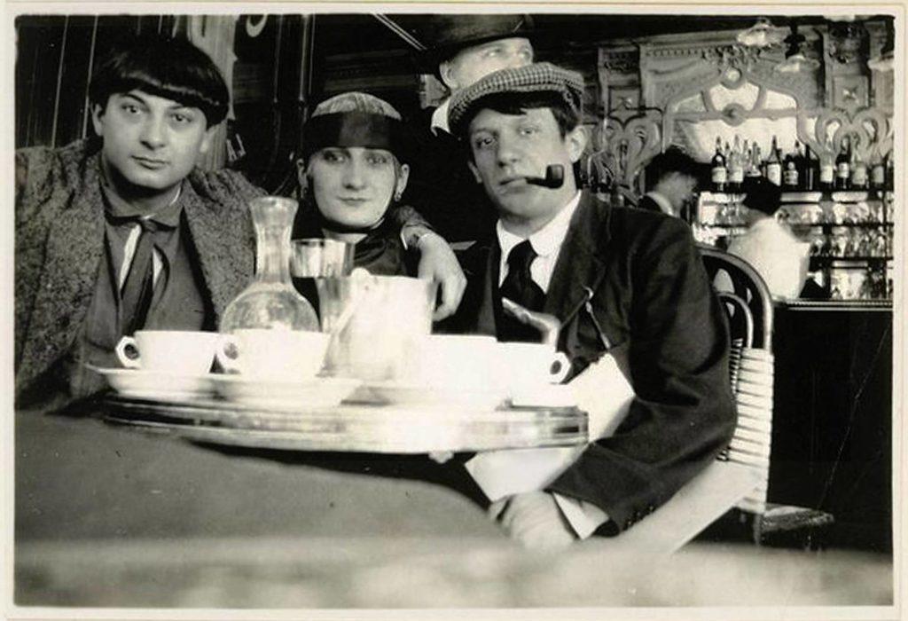 Pablo Picasso Moise Kisling Paquerette nel Cafe la Rotonde Parigi 1916