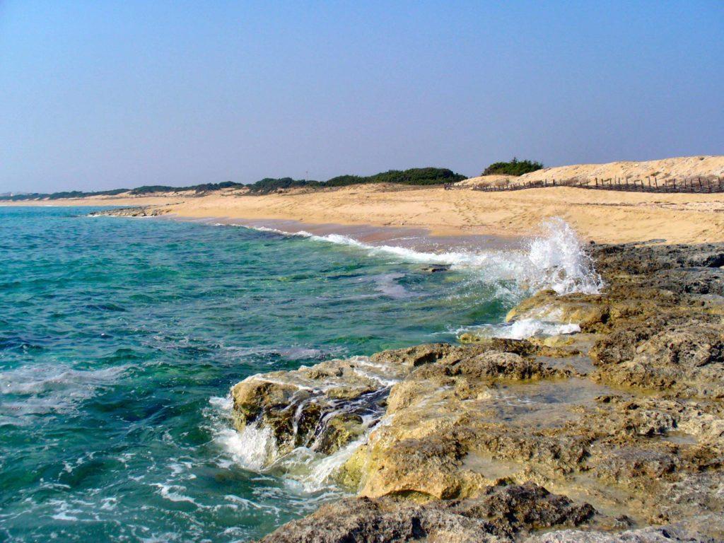 Spiaggia in Punta Prosciutto in Puglia