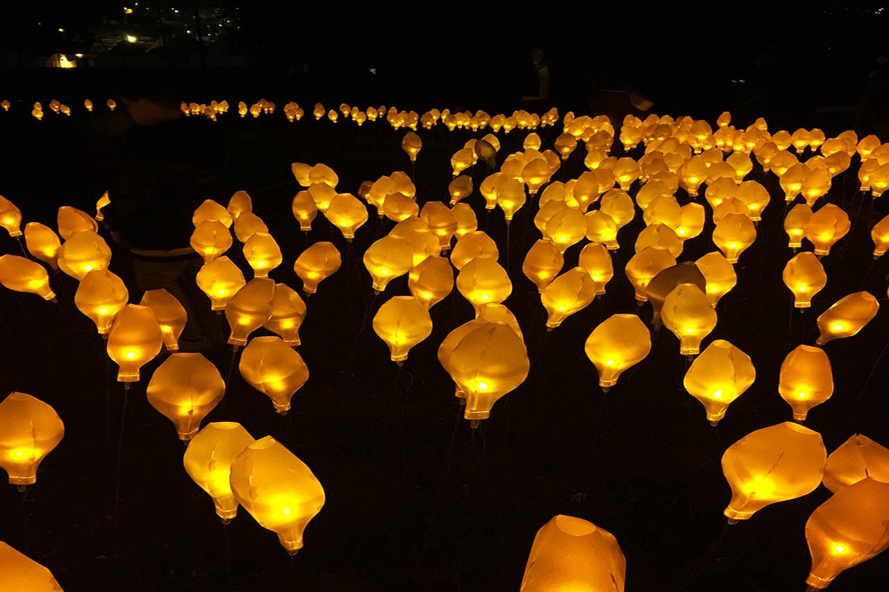 Light festival Alberobello Puglia