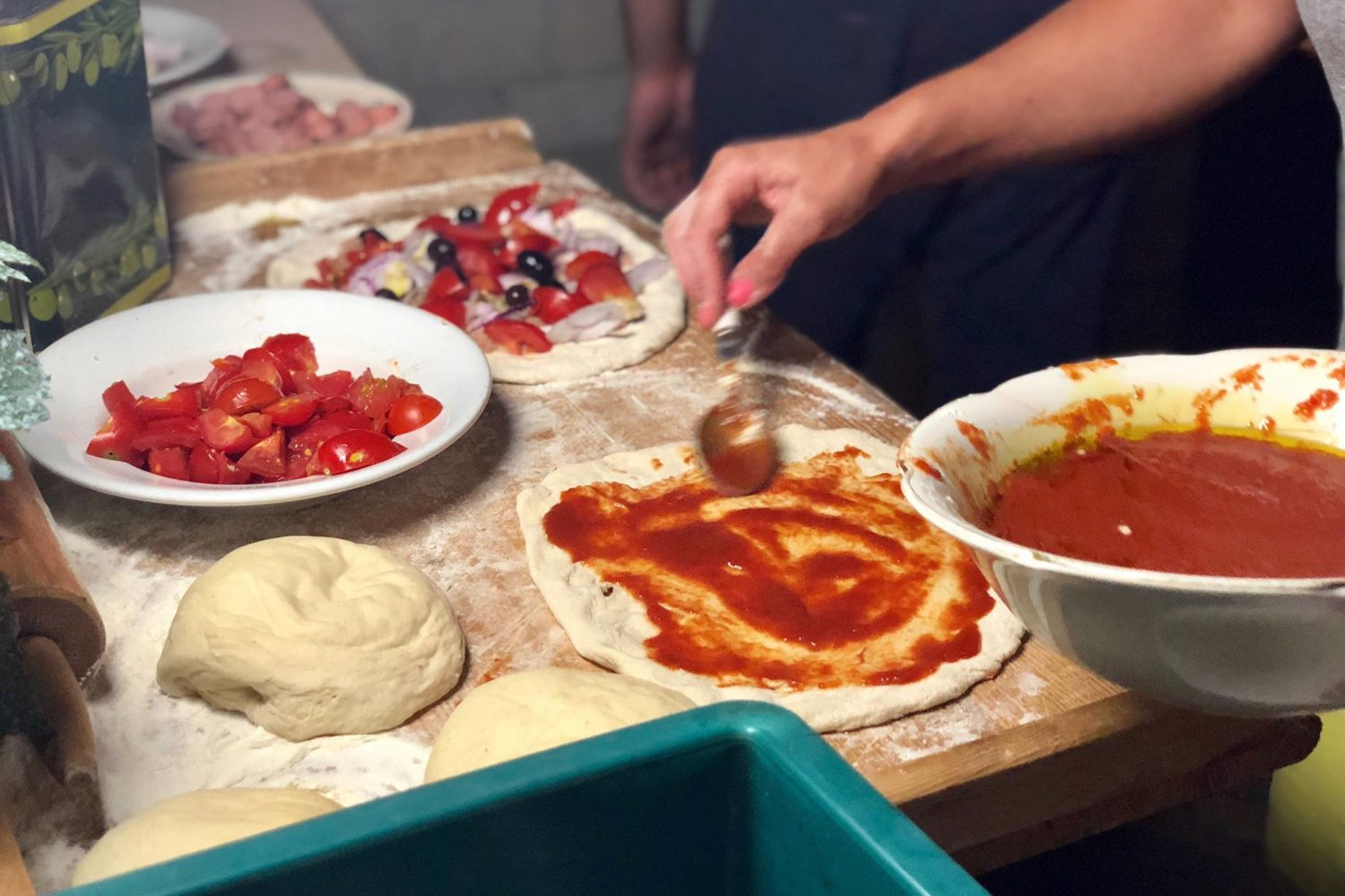 Come preparare una pizza cooking class