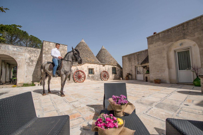 Passeggiata a cavallo in Valle d'Itria
