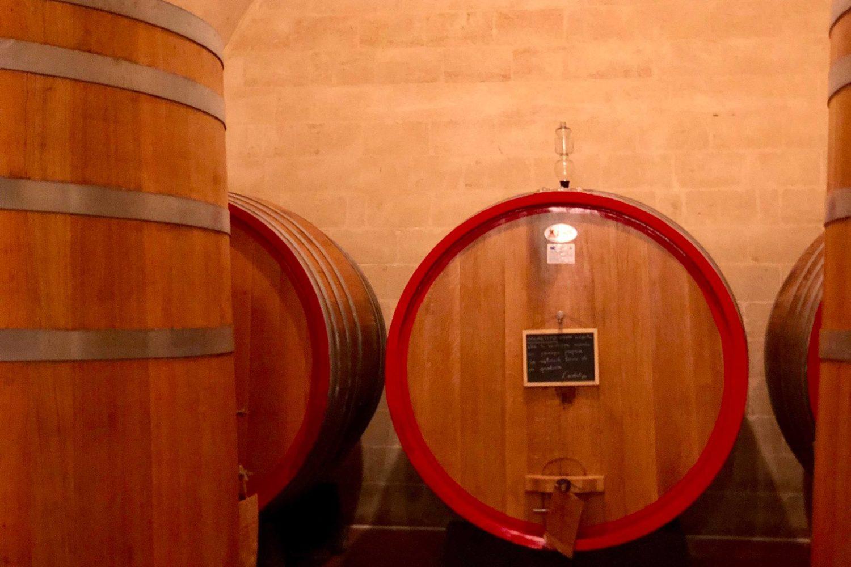 A adega e os barrils