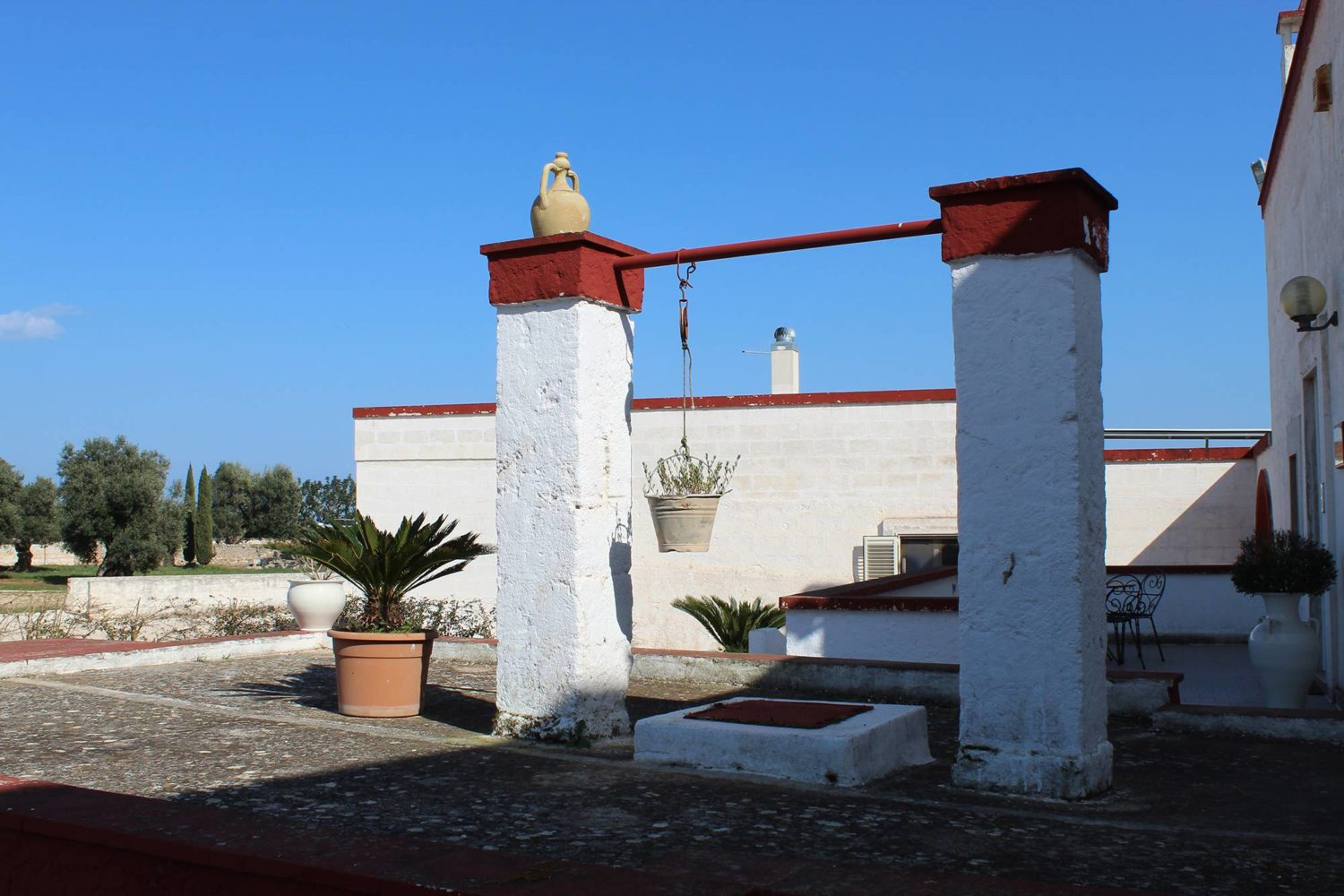 Ancient Apulian masseria with modern oil mill