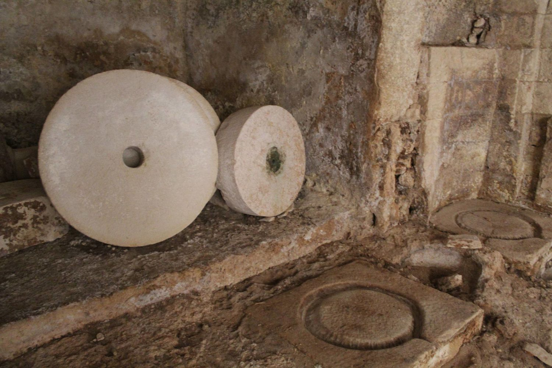 Old frantoio ipogeo underground olive oil mill in Puglia