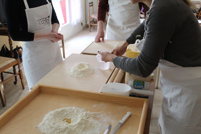 Deep fried panzerotti cooking class