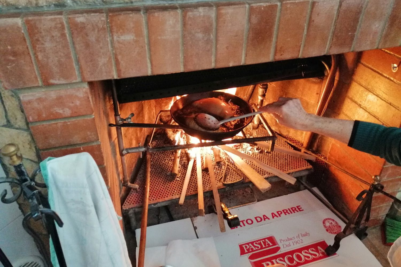 Deep fried panzerotti frying