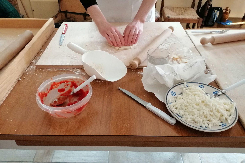 Deep fried panzerotti lunch