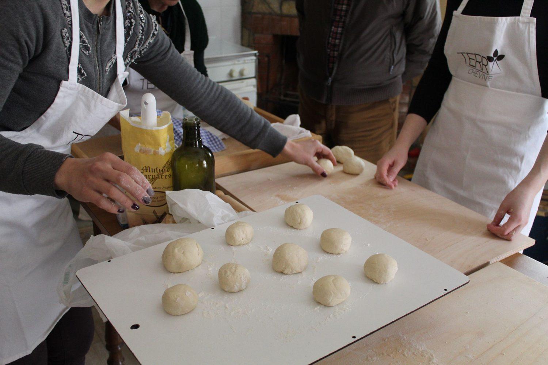 Deep fried panzerotti steps preparation