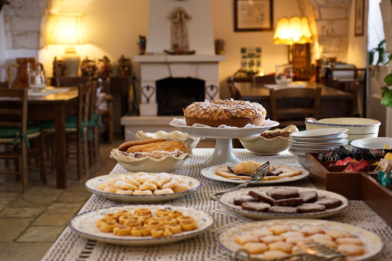 Traditional breakfast in Puglia