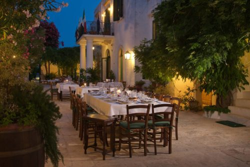 Traditional lunch dinner at masseria