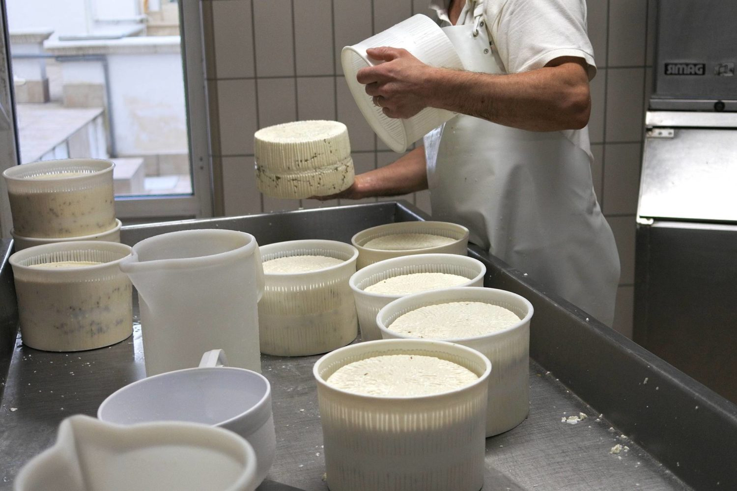 Cheese making in Puglia