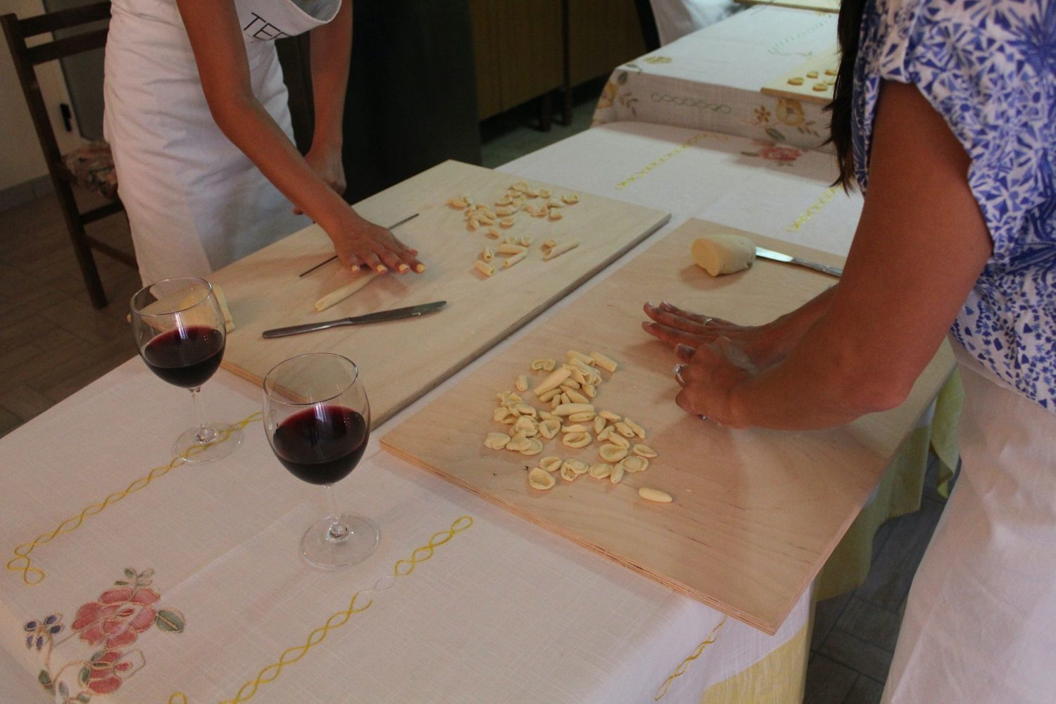 Orecchiette dough preparation