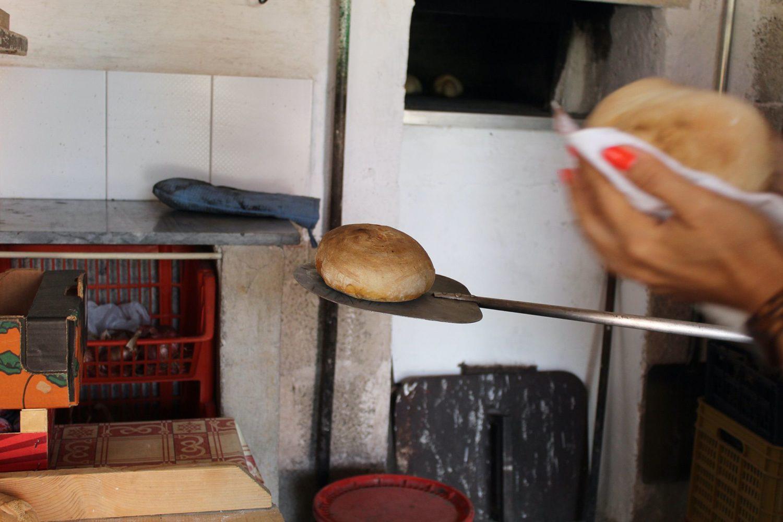 Steps bread preparation