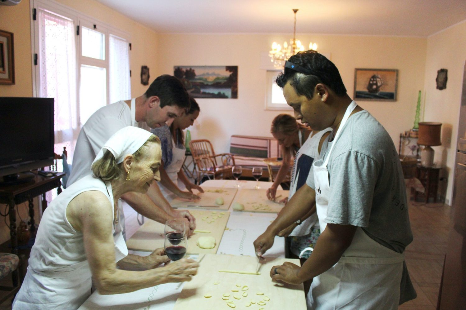 Traditional Apulian pasta preparation